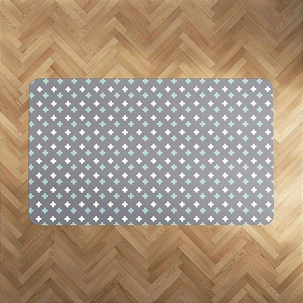 Playmat Super Cute cinza e menta Retangular