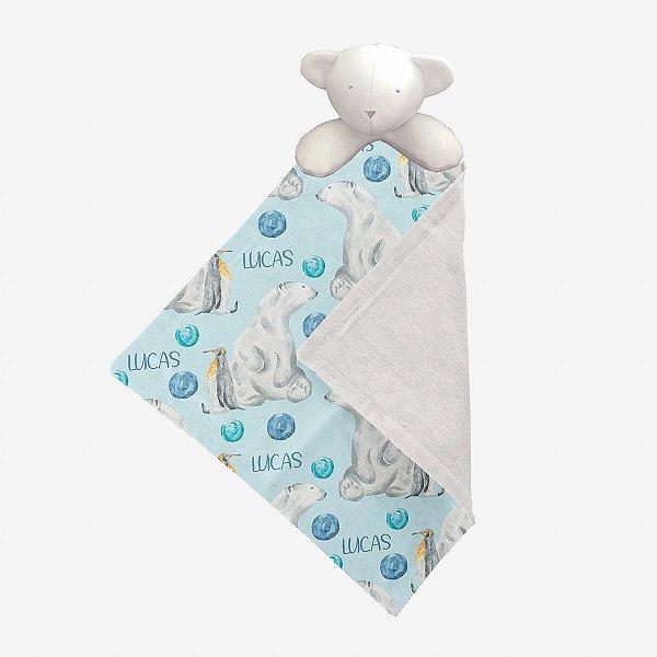 Naninha Urso polar aquarelado personalizada