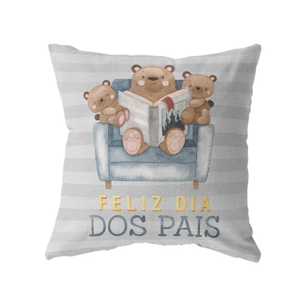 Capa de almofada Dia dos Pais Ursinhos