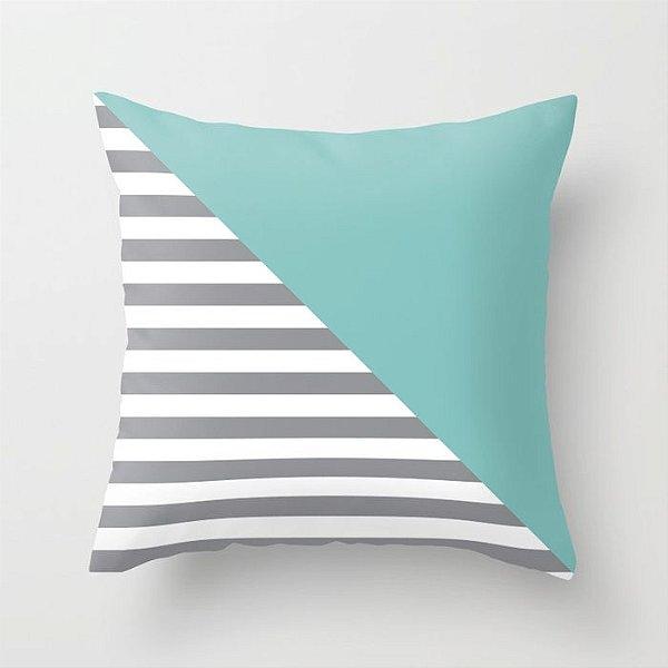 Capa de almofada Diagonal Tiffany 40x40 ~ OUTLET