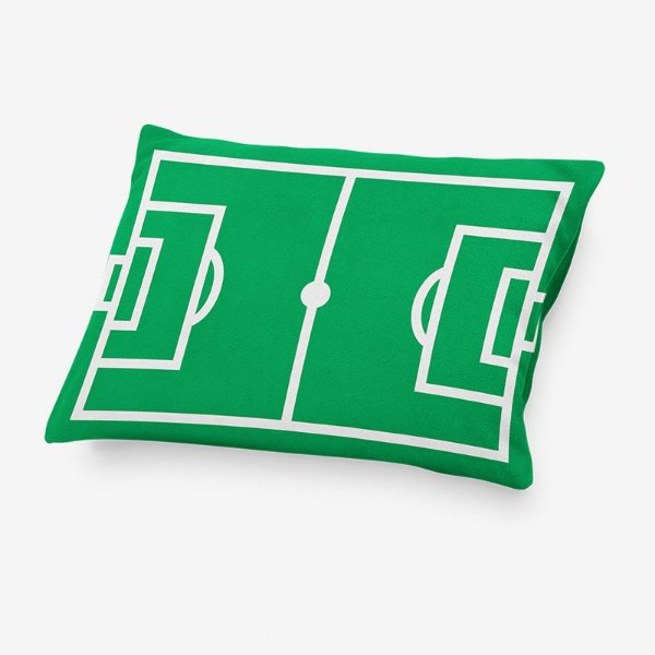 Capa de travesseiro Campo de Futebol