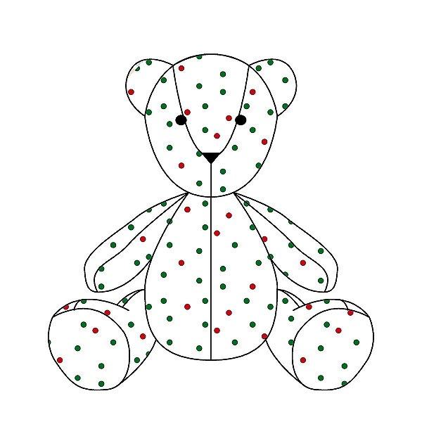 Urso personalizável bolinhas de Natal