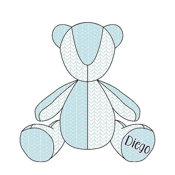 Urso Personalizável Ziggy (várias cores)