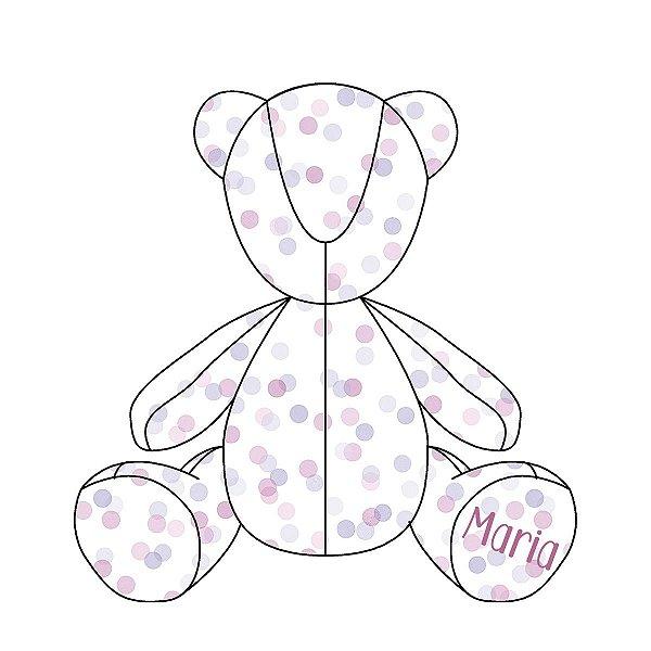 Urso Personalizável Confetti uva