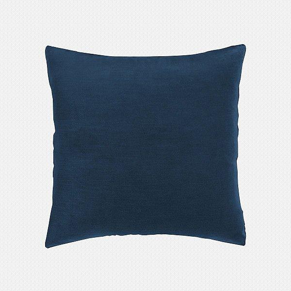 Capa de almofada em veludo luxo azul