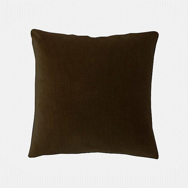 Capa de almofada em veludo luxo marrom