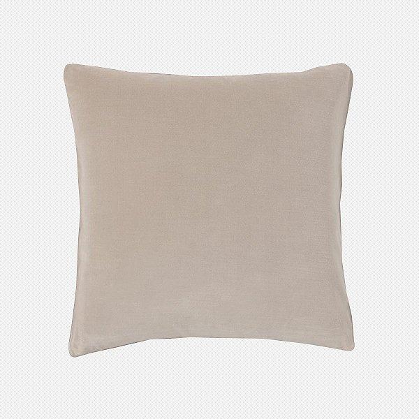 Capa de almofada em veludo luxo marfim