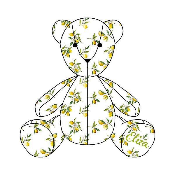 Urso Personalizável Limão Siciliano