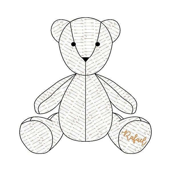 Urso Personalizável Flechas Étnico laranja