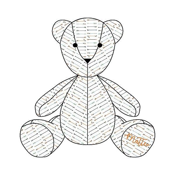 Urso Personalizável Flechas Étnico marinho