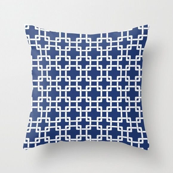 Capa de almofada Plummer Azul Marinho