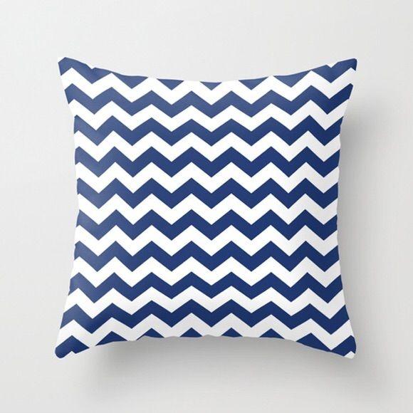 Capa de almofada Chevron Azul Marinho