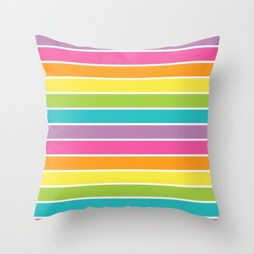 Capa de almofada Rainbow Listras