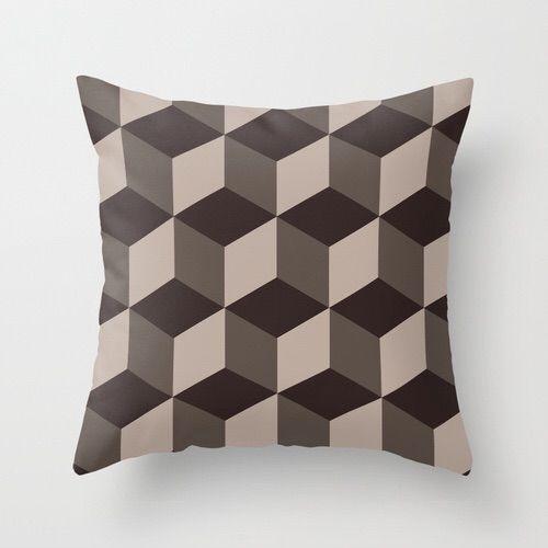 Capa de almofada Cubes Marrom