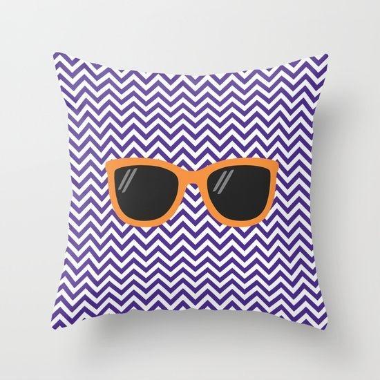Capa de almofada Óculos Roxo e Laranja