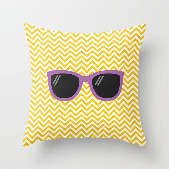 Capa de almofada Óculos Amarelo e Roxo