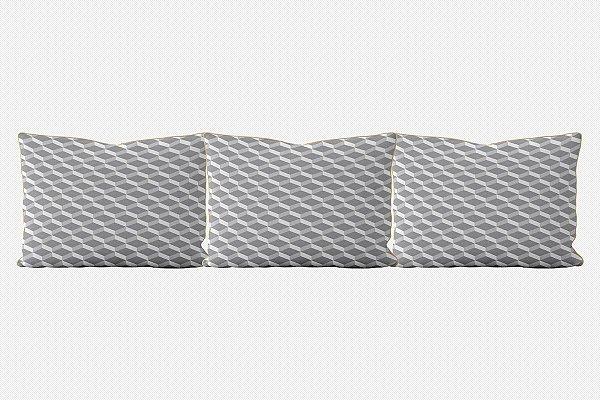 Kit almofadões para cama 3D (várias cores)