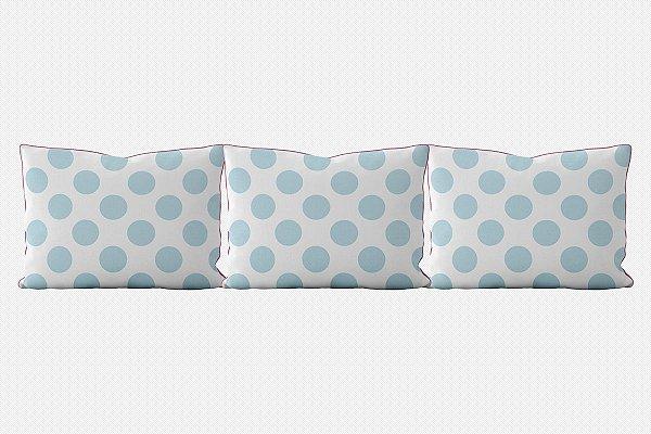 Kit almofadões para cama Bolas (várias cores)