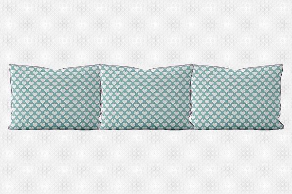 Kit almofadões para cama Corações (várias cores)