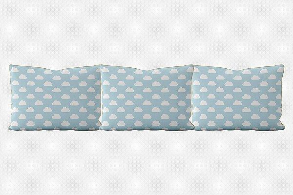 Kit almofadões para cama Céu (várias cores)