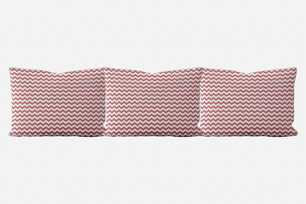 Kit almofadões para cama Chevron (várias cores)