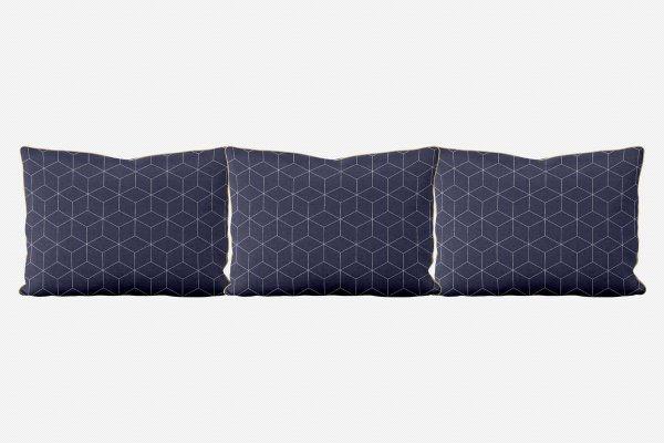 Kit almofadões para cama Cubes (várias cores)