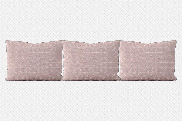 Kit almofadões para cama Prisma (várias cores)