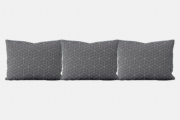 Kit almofadões para cama Umi (várias cores)
