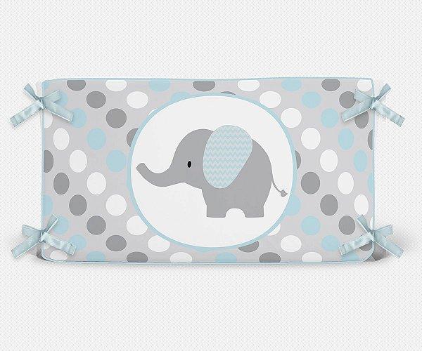Cabeceira em espuma Elefante Azul Bebê