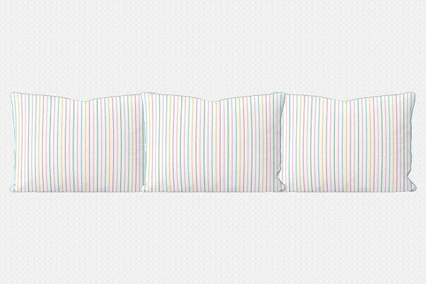 Kit almofadões para cama Sweet Listinhas