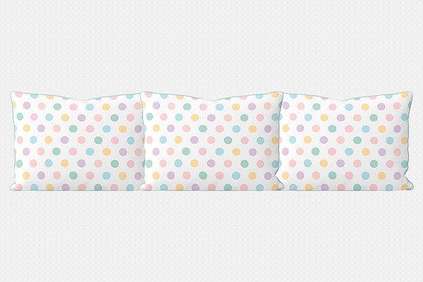 Kit almofadões para cama Sweet Bolas