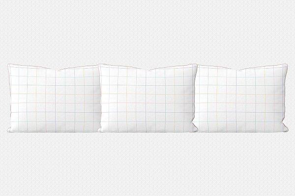 Kit almofadões para cama Quadrados Coloridos