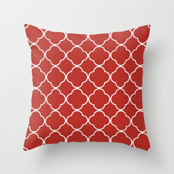 Capa de almofada Quatrefoil Vermelho