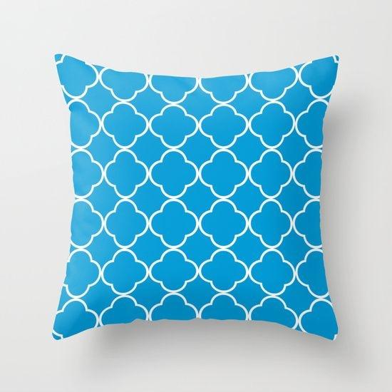 Capa de almofada Quatrefoil Azul Céu