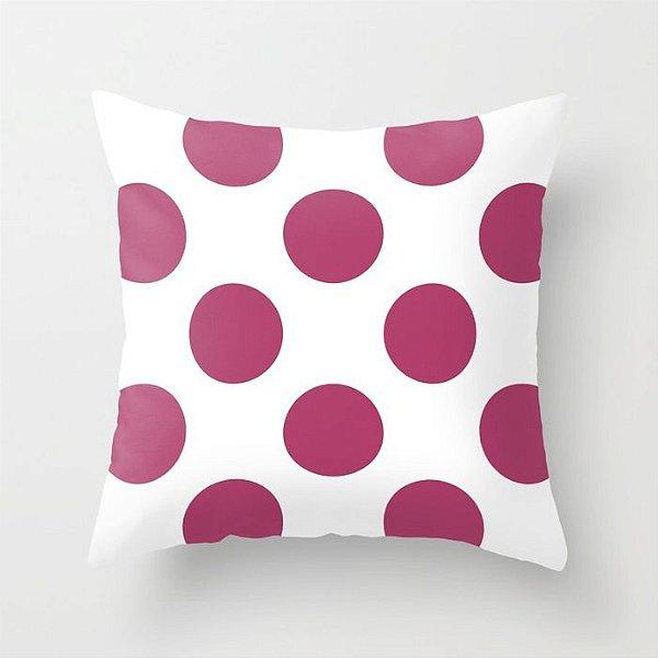 Capa de almofada Bolas Rosa Escuro