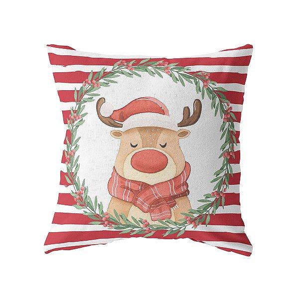 Capa de almofada Rena Noel (mais cores)