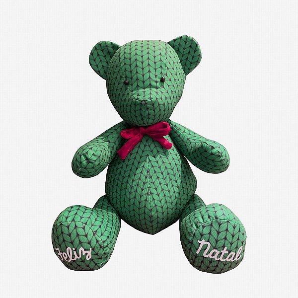 Urso de Natal tricot verde