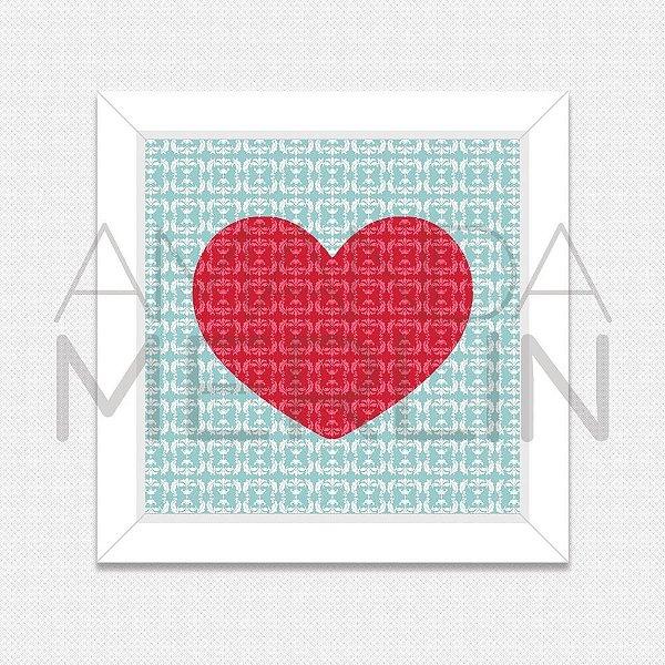 Quadro Damask Heart