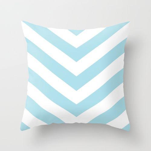 Capa de almofada V Azul bebê