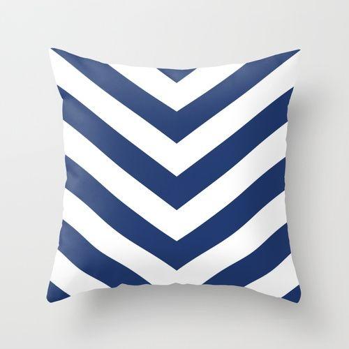 Capa de almofada V Azul Marinho