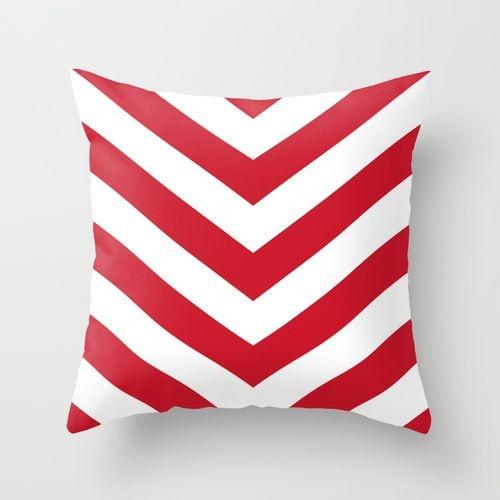 Capa de almofada V Vermelho