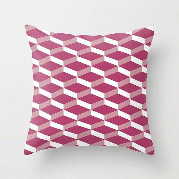 Capa de almofada 3D Rosa Escuro