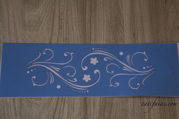 Stencil - Arabesco Flor