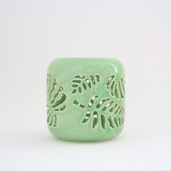 Castiçal em cerâmica - costela de Adão