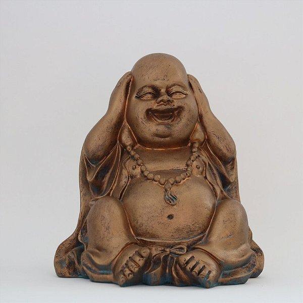 Buda decorativo em resina