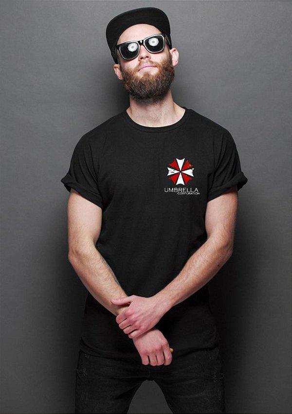 Camiseta Resident Evil Umbrella Corporation - Nerd e Geek - Presentes Criativos
