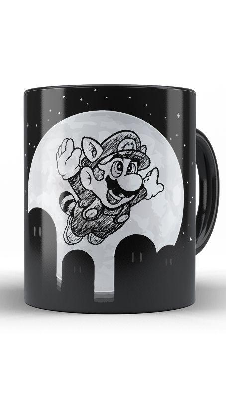 Caneca Super Mario Night - Nerd e Geek - Presentes Criativos