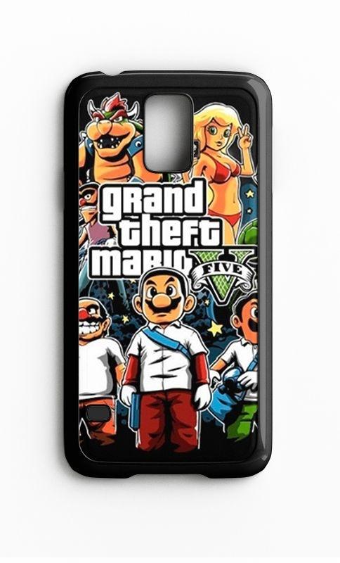 Capa para Celular Grand Theft Mario Galaxy S4/S5 Iphone S4