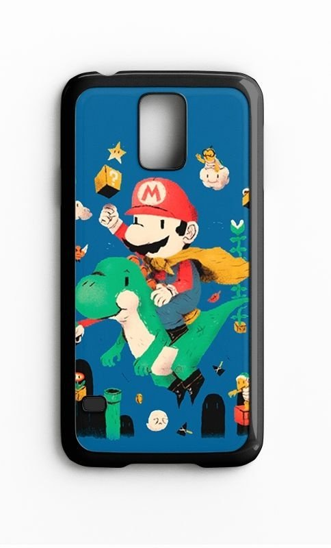 Capa para Celular Super Mario Word Galaxy S4/S5 Iphone S4 - Nerd e Geek - Presentes Criativos