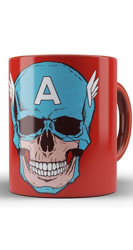 Caneca Captain America Skull
